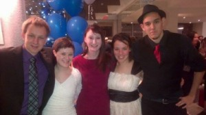 Amanda with friends at Rise Up
